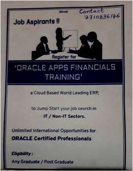 Job Aspirants - Oracle Apps Financials Online  Live Training Offered
