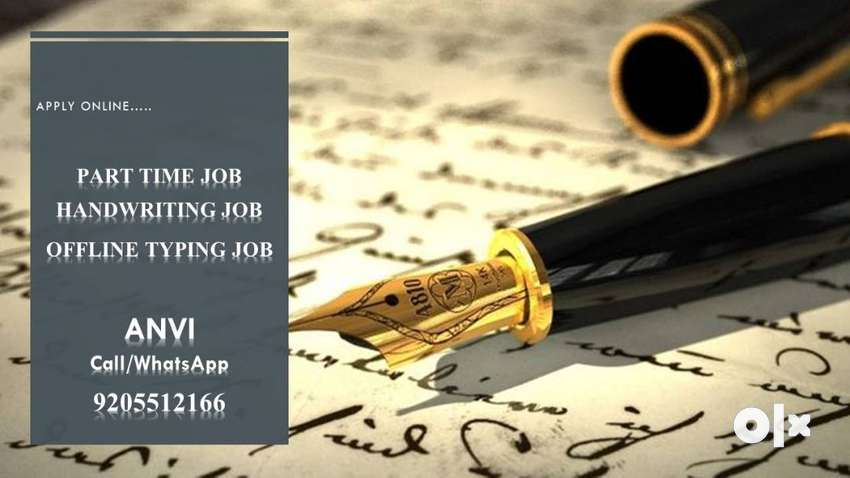 Typing & Handwriting Job (Work from home)(Part time job) 0