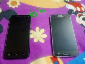 2 phones Samsung and Lenovo