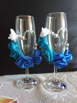Wedding toast glass