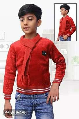 Fancy Wool Self Pattern Sweaters For Boys