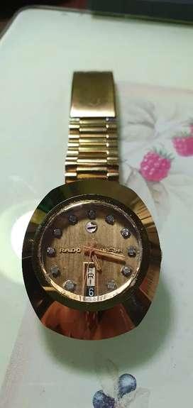 Jam Tangan PRIA merk RADO Diastar Gold