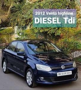Volkswagen Vento 1.5 TDI Highline, 2012, Diesel