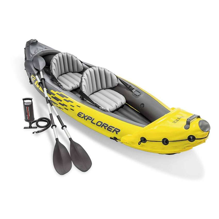 Intex Explorer K2 Kayak, 2-Person Inflatable Kayak Set with Aluminum 0