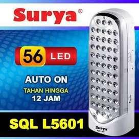 Emergency LED Banyak 56LED Tahan 12 Jam Surya SQL L5601 Cas