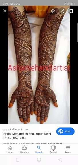 Hi marriage and any other function super mehandi design in your hand