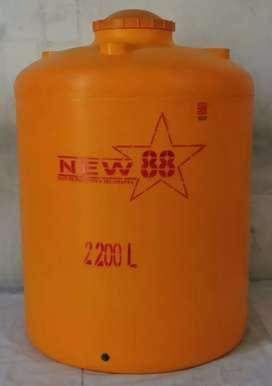 Tandon air 2200 liter karangmojo merk new88 hdpe tebal bahan plastik