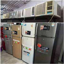 WINDOW AC 1 TON 9500/-WITH DELIVERY WARRANTY 1 YEAR FRIDGE AVAILABLE