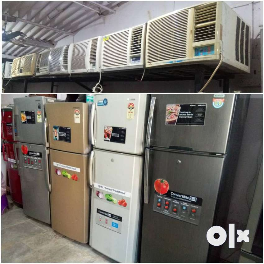 WINDOW AC 1 TON 9500/-WITH DELIVERY WARRANTY 1 YEAR FRIDGE AVAILABLE 0