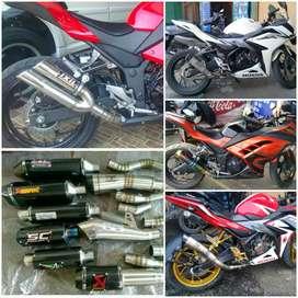 Knalpot Racing Buat Semua Motor Sport Ninja250 Fi.CBR150/250.R25.XMAX