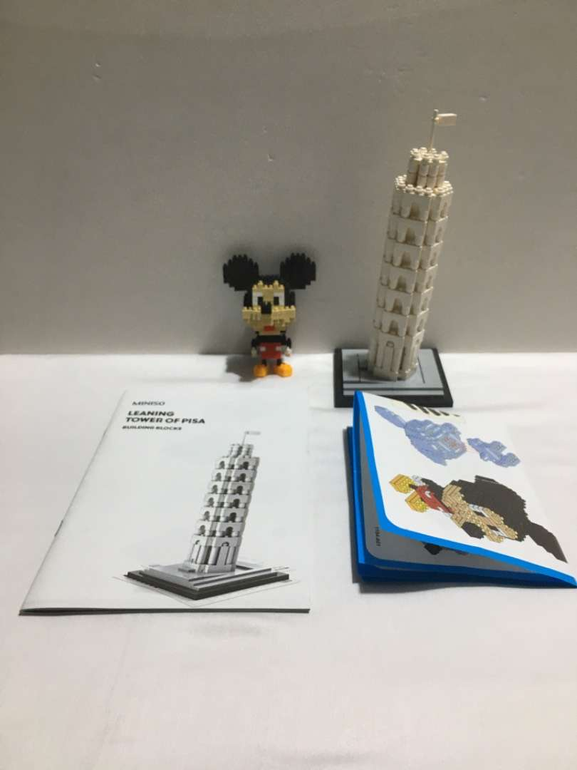 Leaning tower of Pisa and Mickey Mouse Blocks 0