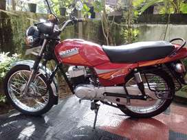 TVS SUZUKI SAMURAI Bike, 1996 model,  Red colour, 60,254km.