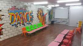 Runing play school for sale