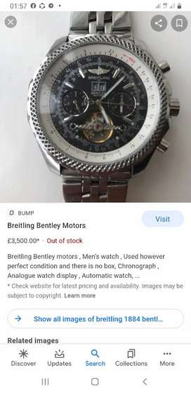 breitling1884 for bentley motors a  unique watch..