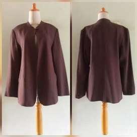 Preloved Blazer New Line _Katun Coklat Lapus Furing Size L