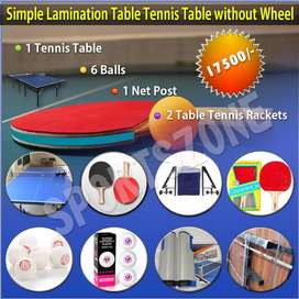Simple Lamination Table Tennis Table Without Wheels