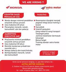 Counter Sales & Marketing Executive Astra Motor Godean