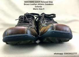 SKECHERS  Leather Athletic Sneakers Shoes