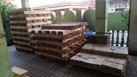 Ex kayu palet jati belanda serat halus 4 sisi