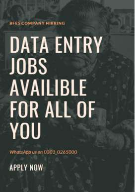Data entry jobs will be provided by us to you apply it now