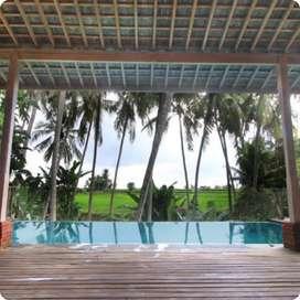 Villa view sawah dan jungle Sukawati Dekat flaminggo beach club