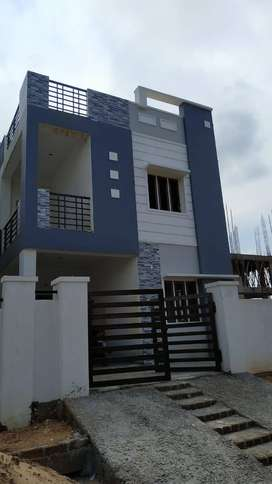 In  Mallampet Duplex House For Sale Just 85lacs West Facing LRS Appro