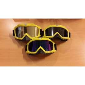 Kacamata motocross/ski/sepeda warna kuning