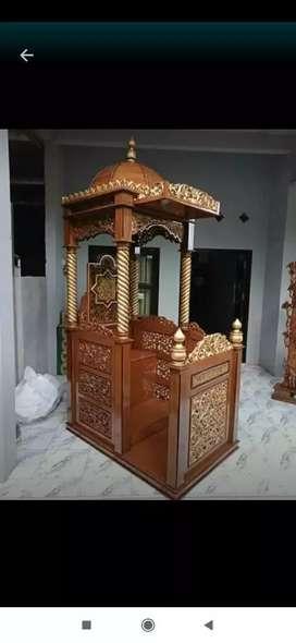 Mimbar masjid podium dan furniture lain