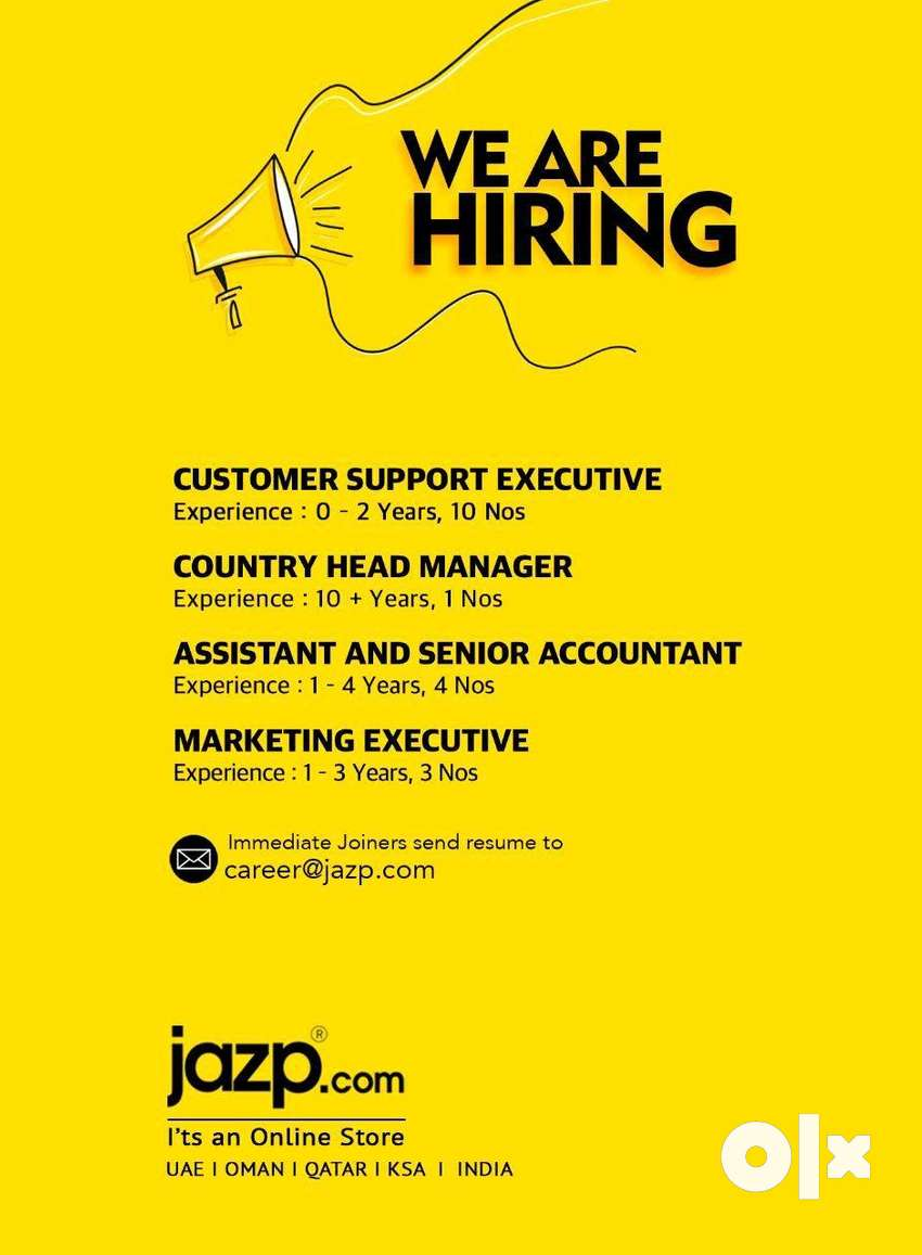 We hiring for customer support executive 0