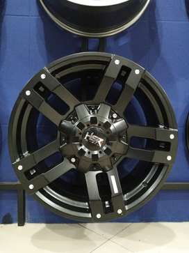 Velg mobil Pajero R18 HSR Buldozer ring 18 hole 6x139,7 blcak gresik