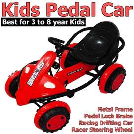 Kids Pedal Car Quad Cycle Go-Kart  Better Safe then Bicycle n Tricycle