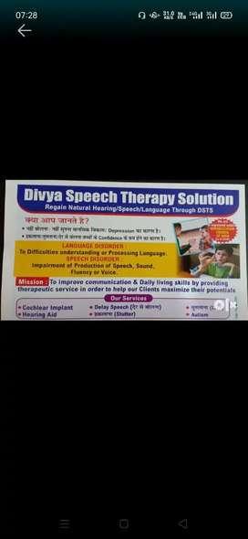 Speech Therapy ( तुतलाना, हकलाना, डिले स्पीच, Hearing Aid Therapy)