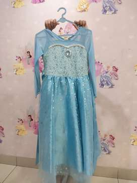 Dress Elsa Frozen 1 panjang