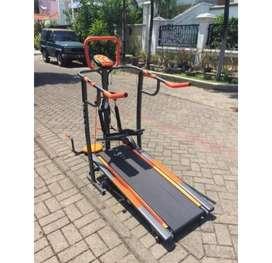 Hot Promo Alat fitness >> Manual Treadmil 4Fungsi