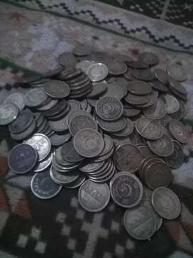 Old coins of 1 and 2 rupees