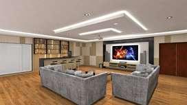 Peredam suara ruang akustik untuk home cinema ruang film pribadi