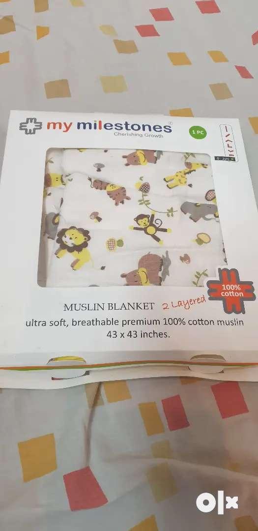 Muslin blanket for kid