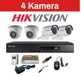 paket cctv 2 - 4 kamera hd 2 mp termurah dan bergaransi