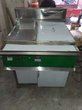 Fryer 3 tube double basket with sizzling