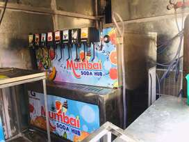 Mobile van model soda machine