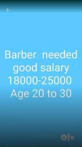 Saloon shop hair cutter (barbar)