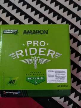 New battery, Amaron 'ABR-PR-12APBTX50' New battery.