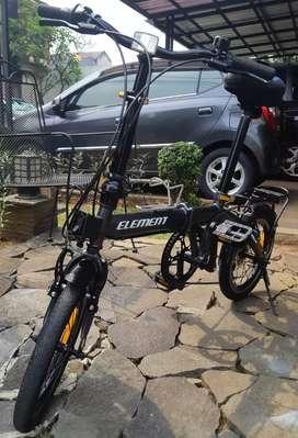 Sepeda Lipat ELEMENT DASH 16 Inch 7 Speed Dark Grey
