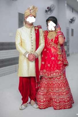 Groom Sherwani & Bride Lehnga