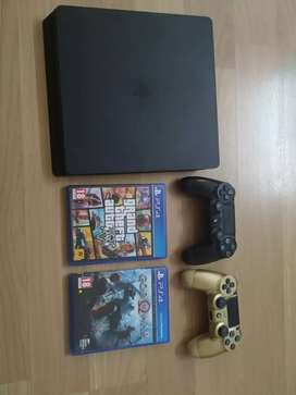 PS4 1TB with additional controller and 2 games
