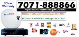 Best Seller-New Tata Sky DTH Dish - Tatasky D2H DishTV Videocon - COD