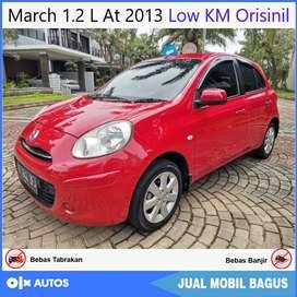 [Dp17jt] Nissan March 1.2 L At 2013 Low KM Orisinil Bisa Kredit