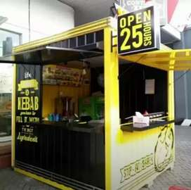 Booth Semi Container / Container Cafe