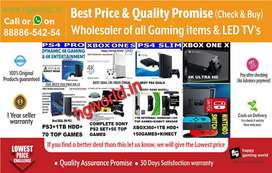 PS4,PS3,PS2,XBOX1/X/S/360,Nintendo & LED TVs at Lowest Price|Wholesale