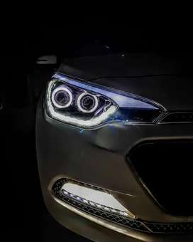 Dual projector headlights for Elite i20 2014 to 2019 model compatible